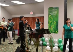 Sunday worship at the Best Western in Burnaby
