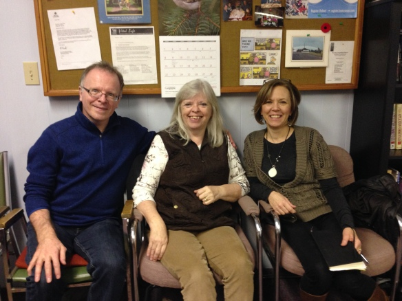 Meeting with Pastor Jim Walton of Burnaby North Baptist and Pastor Janet McBeth of Emmaus Community Fellowship.
