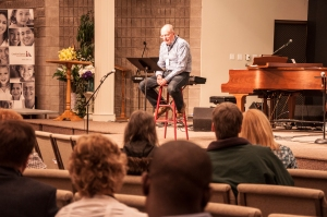 Pastor Dayle of the host church Westview Baptist sharing a Bible study.