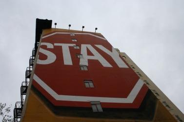 STAY sign CCSA Glenn G